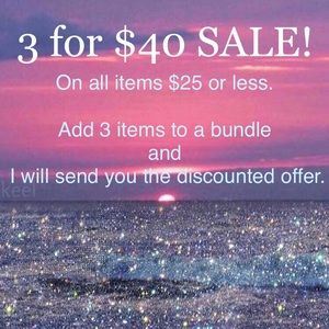 Other - SALE 3 for $40